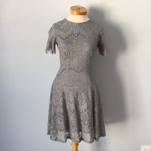 Altar'd State Blue Gray Lace Dress Size Small